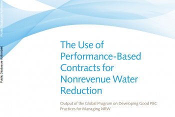 Non-revenue Water Performance Based Contracts